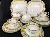 Beautiful AYNSLEY tea service for 6 Art Nouveau